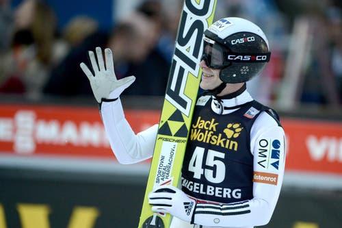Der Tscheche Roman Koudelka freut sich über sein Ergebnis. (Bild: URS FLUEELER)