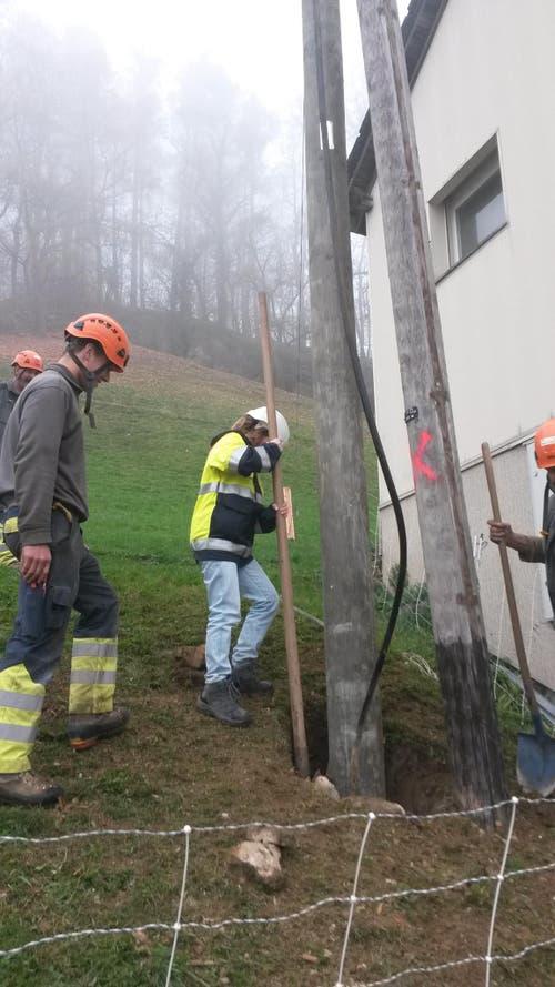Elektrizitätswerk Obwalden: Vanessa ist bei den Netzelektrikern im Einsatz (Bild: Barbara Rohrer)