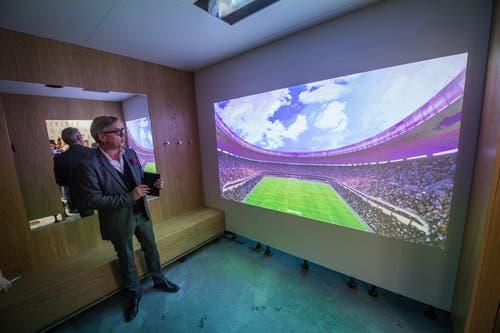 Eine interaktive Umkleidekabine. (Bild: Boris Bürgisser (Ebikon, 18. Oktober 2017))