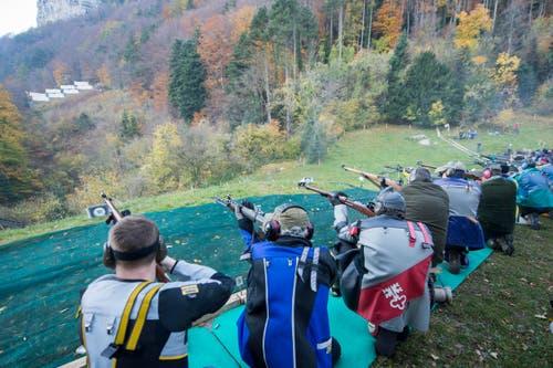 ... 88 Schützen der Sektion Engelberg... (Bild: Keystone / Urs Flüeler)