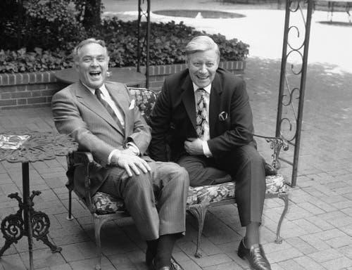 Der amerikanische Staatssekretär Alexander Haig zusammen mit Helmut Schmidt am 23. Mai 1981 in Washington. (Bild: Keystone)