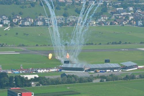 Inszenierte Flugshow von Pilatus. (Bild: Pilatus Aircraft)
