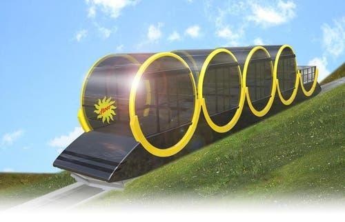 Visualisierung der neuen Stoosbahn. (Bild: PD)