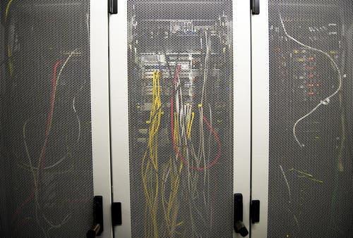 Serverraum des E-Security-Unternehmens DSwiss. (Bild: Keystone)