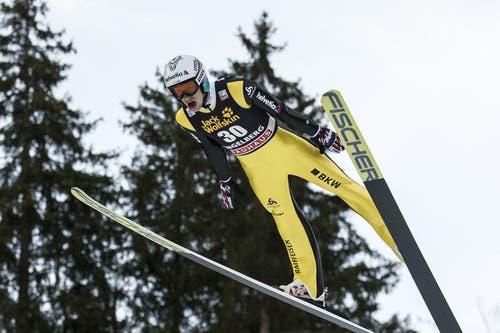 Der Schweizer Gregor Deschwanden erreicht am Samstag Platz 30. (Bild: Keystone / Alexandra Wey)