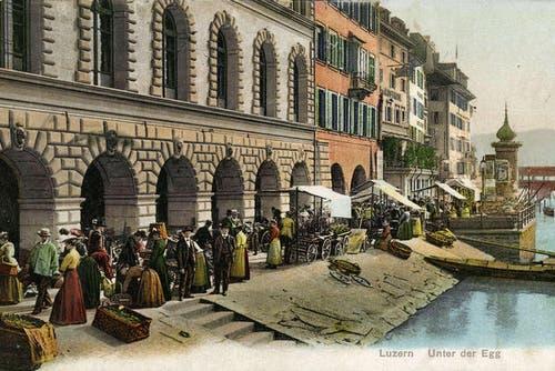 Markt unter der Egg, 1919 (Bild: PD)