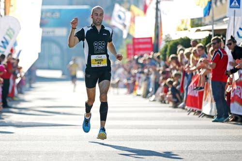 Daniel Renggli läuft auf Rang 2. (Bild: Philipp Schmidli / Luzerner Zeitung)