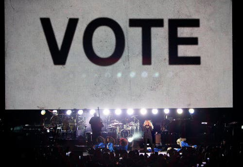 Beyoncé trat an einer Wahlveranstaltung von Hillary Clinton auf. (Bild: Keystone)