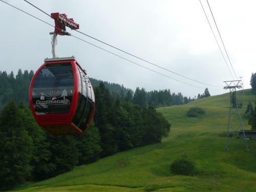 Die Seilbahn Eggwald - Gummenalp in Dallenwil (Bild: PD)