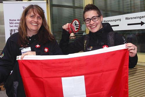 Alexandra Najer (rechts), Fachfrau Gesundheit aus Dagmersellen, mit ihrer Expertin Sabina Decurtins. (Bild: pd)
