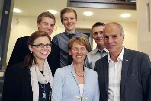 Die Familie von Karin Kayser. (Bild: Corinne Glanzmann / Neue NZ)
