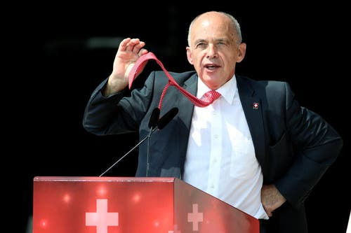 Bundesrat Ueli Maurer: «Ich platze fast vor Stolz» (Bild: Philipp Schmidli)