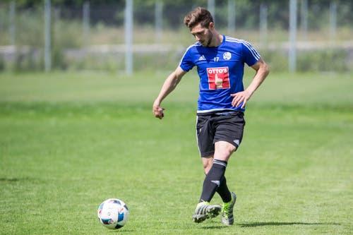 Fix wechselt Mittelfeldspieler Simon Grether vom FC Wohlen zum FC Luzern. (Bild: Keystone / Alexandra Wey)
