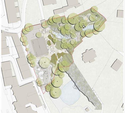 Gestaltungsplan »Park« in einer Aufsichtsansicht (Bild: Gletschergarten)