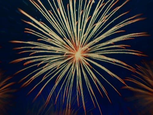 Feuerwerk im Entlebuch. (Bild: Leserbild Edy Stalder)