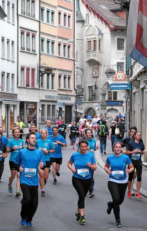 Läufergruppe der CSS (Bild: Swiss-Image)