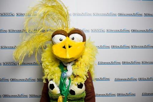 Platz Eins in der Kategorie Einzelmasken: Susi Zai aus Luzern. (Bild: Manuela Jans / Neue LZ)