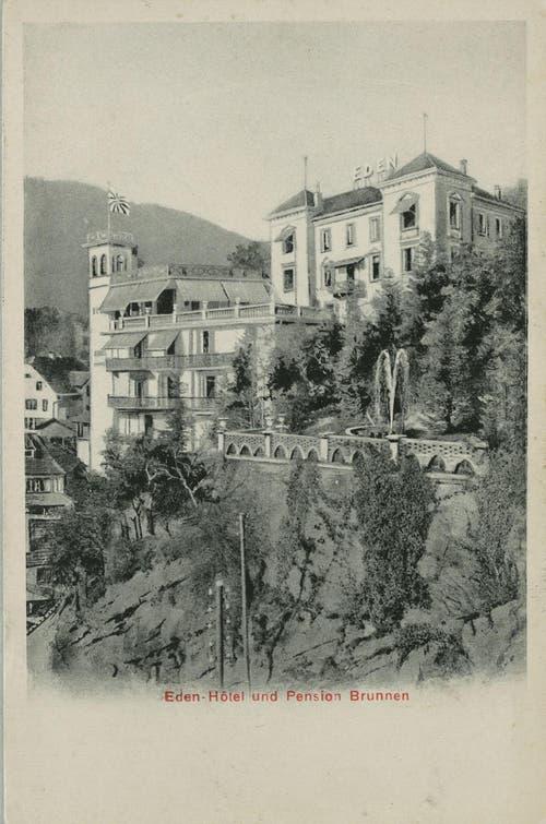 Kanton Schwyz: Villa Schoeck, später Hotel Eden in Schwyz (Bild: Slg. Kloster Einsiedeln/Staatsarchiv Schwyz)