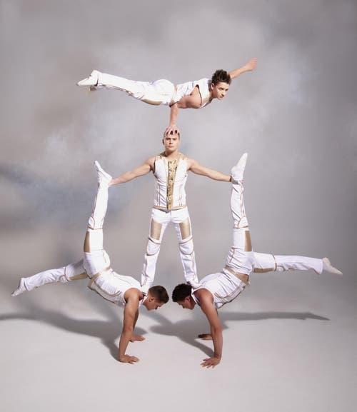 Die Darbietung der vier jungen ukrainischen Männer verbindet in perfekter Weise Akrobatik und Äquilibristik. (Bild: PD)