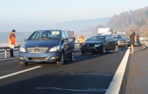 Platz 6: A2 bei Knutwil, 6 Unfälle (Bild: Luzerner Polizei)