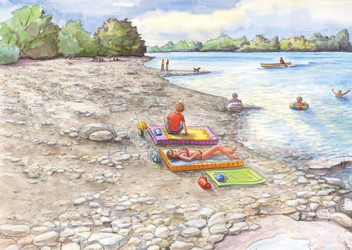 Flachufer: attraktive Ufergestaltung – ein Mehrwert für Mensch und Natur. (Bild: PD)