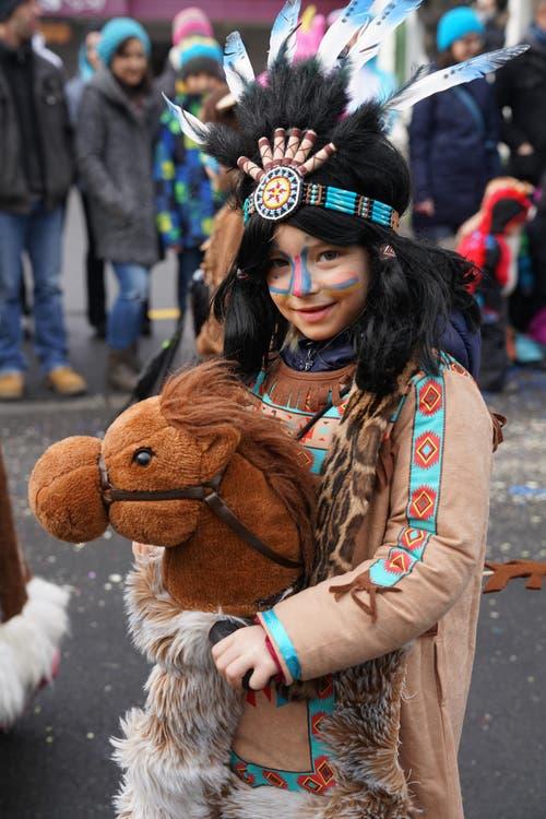 Indianerkinder noch und noch (Bild: Romano Cuonz (Giswil, 11. Februar 2018))