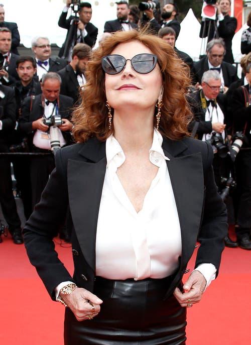 Susan Sarandon lässt sich das 70. Cannes-Filmfestival nicht entgehen. (Bild: EPA/Guillaume Horcajuelo)