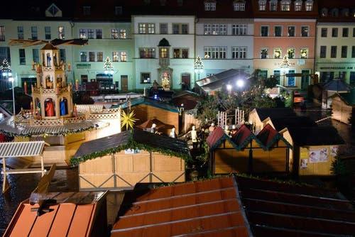Weihnachtsmarkt in Weimar ist beschädigt. (Bild: Keystone)