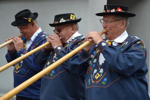 1. August: Bundesfeier in Andermatt. Alphornbläser im Einsatz. (Bild: Sven Aregger / Neue UZ)