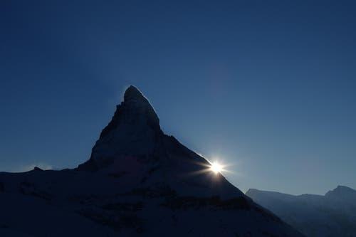 Faszinierendes Matterhorn. Aufgenommen auf Riffelberg. (Bild: Bruno Ringgenberg)