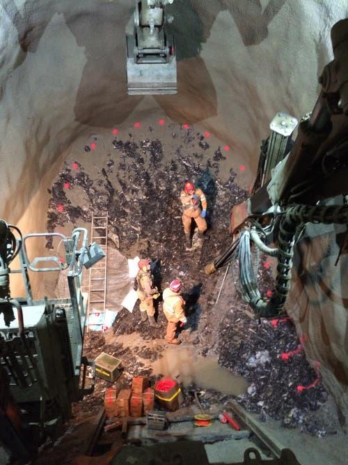 Arbeiten am Tunnel (17.6.2016) (Bild: PD)