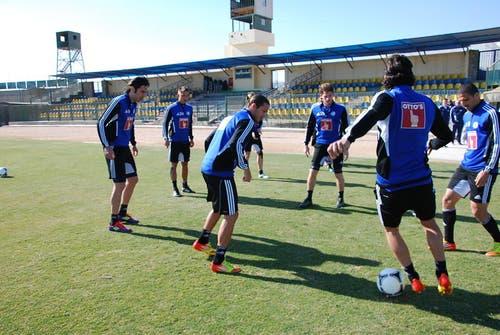 Die FCL-Spieler finden in El-Gouna beste Trainingbedingungen vor. (Bild: Daniel Wyrsch/Neue LZ)