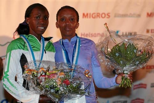 Cynthia Kosgei wird Zweite vor der Drittplatzierten Maryanne Wanijru. (Bild: Swiss-Image)
