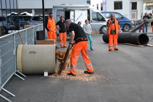 Rettungshunde vom Roten Kreuz suchen nach Personen (Demonstration der Hunde-Schulung) (Bild: Beatrice Vogel / Neue LZ)