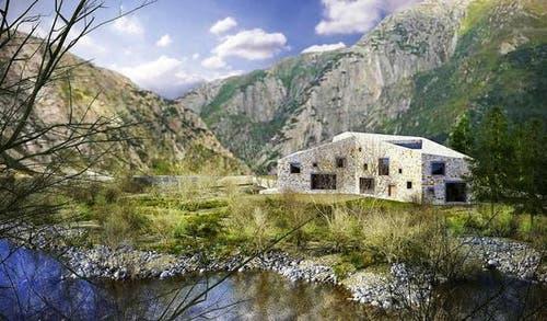 So soll die Villa von Giorgio und Anne-Marie Behr nach der Fertigstellung aussehen. (Bild: Elias Bricker / Neue UZ)