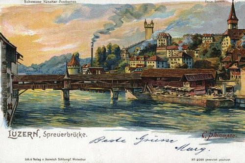 Spreuerbrücke, 1901 (Bild: PD)