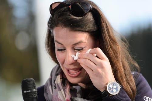 19. März: Nach über neun Jahren im Weltcup, dem Olympiasieg in der Abfahrt im Jahr 2014 und drei Weltcupsiegen tritt die Dominique Gisin ab. Die 29-jährige Engelbergin gibt in Meribel, Frankreich, ihren Rücktritt vom Skisport bekannt. (Bild: Keystone)
