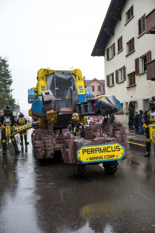 Peramicus mit dem Motto «Space Mining Corp.» (Bild: Roger Grütter (Littau, 11. Februar 2018))