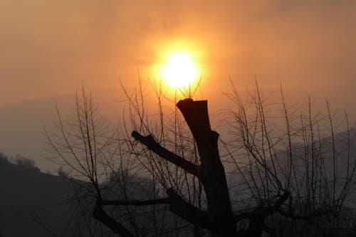 Sonnenuntergang in Stans. (Bild: Hans Steiner)