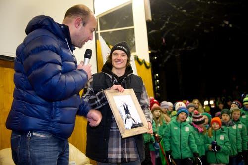 21. Januar: Fabian Bösch aus Engelberg wird Weltmeister im Ski-Slopestyle. Drei Tage später steigt in Engelberg für den 17-Jährigen ein grosses Fest. (Bild: Corinne Glanzmann / Neue LZ)