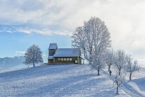 Platz 20 – 422 Gefällt mir: Winterwunderland auf dem Michaelskreuz. (Bild: Leser Roland Bucheli)