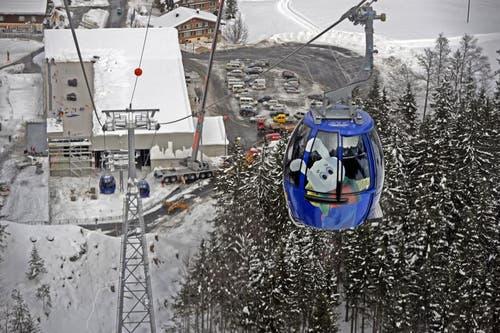 Blick auf die Talstation Stöckalp. (Bild: Corinne Glanzmann / Neue OZ)