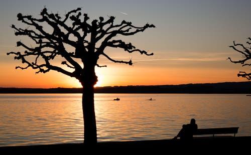 Sonnenuntergang am Zugerseee (Bild: Daniel Hegglin)