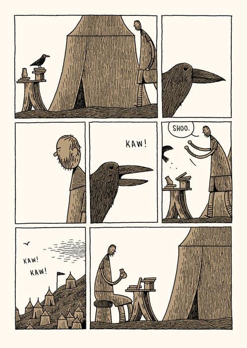 Der Brite Tom Gauld hat in seiner Graphic Novel die biblische Geschichte von David und Goliath nacherzählt - aus der Sicht des Riesen.