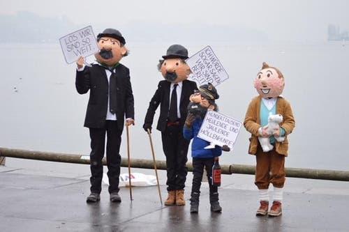 Die Familie Staub erreicht mit dem Sujet «Tim und Struppi» den zweiten Platz. (Bild: Familie Staub)