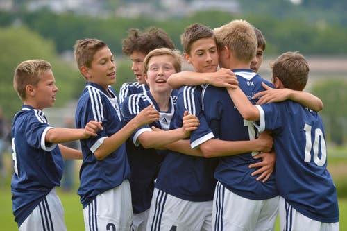 Final U13: FC Luzern-Vitesse Arnhem. Torjubel FCL. (Bild: Martin Meienberger)