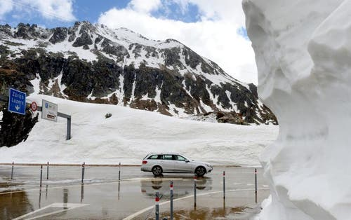 Der Gotthard ist rund eine Woche früher offen als im letzten Jahr. (Bild: Keystone)