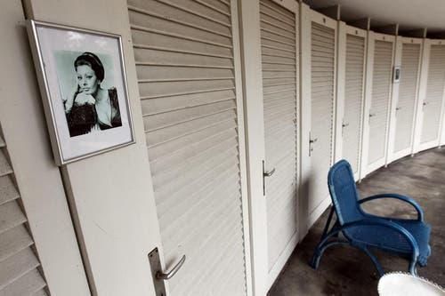 Die alten Badekabinen auf dem Buergenstock werden in den neuen Alpinen Spa integriert. (Bild: Keystone)