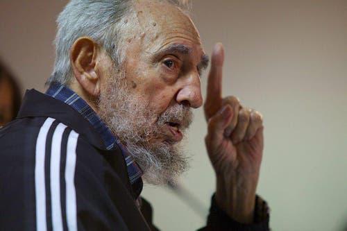 Fidel Castro im Februar 2012. (Bild: ROBERTO CHILE/CUBADEBATE/HANDOUT)