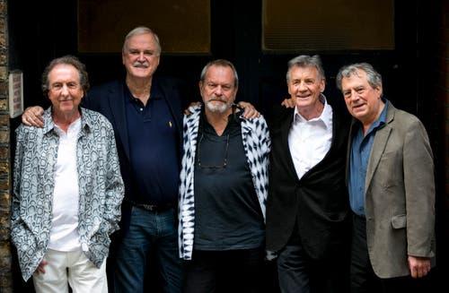 Flying Circus: Die Monty Pythons sind für ein paar Konzerte zurück. Von links: Eric Idle, John Cleese, Terry Gilliam, Michael Palin und Terry Jones. (Bild: Keystone)
